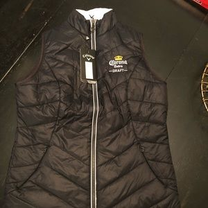 Women's callaway vest with Corona embroidered